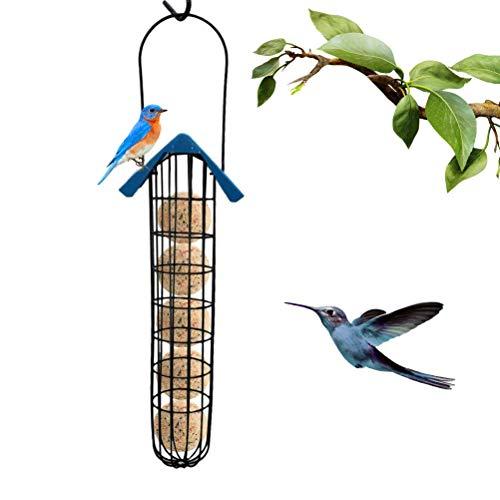CaCaCook Wildvögel Vogelfutter Futterspender,Aufhängen Futterspender,Fat Ball Bird Feeder Futterspender,Fat Ball Feeder aus Metall für Vögel