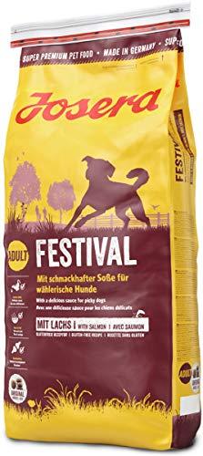 JOSERA Festival, Hundefutter mit leckerem Soßenmantel, Super Premium Trockenfutter für ausgewachsene Hunde, 1er Pack (1 x 15 kg)