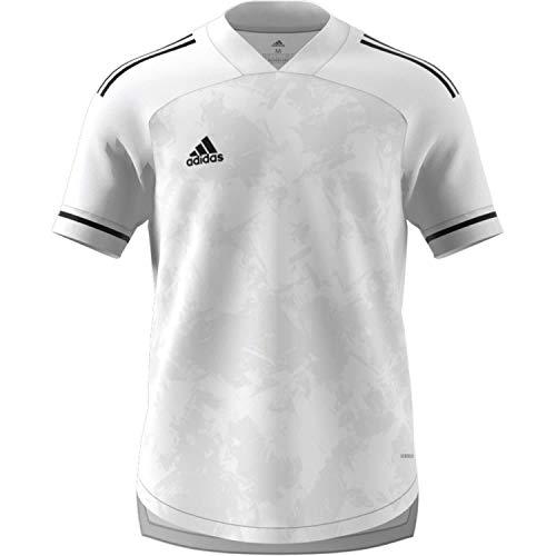 adidas CONDIVO20 JSY T-Shirt, Hombre, White/Black, L