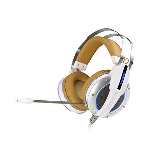 LXFTK Casques, Casques pour Jeux, Casques Bluetooth, Casques à réduction de Bruit, Subwoofer, Stéréo, Ordinateur Portable Universel, avec Microphone