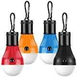 Camping Lights,Tent Lights with Carabiner Clips- 4 Pcs Waterproof Tent LED Light Portable Camping Emergency...