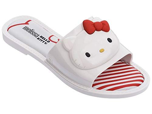 Slipper + Hello Kitty Hello Kitty Chanclas Pala Planas de Mujer Blanco - 39