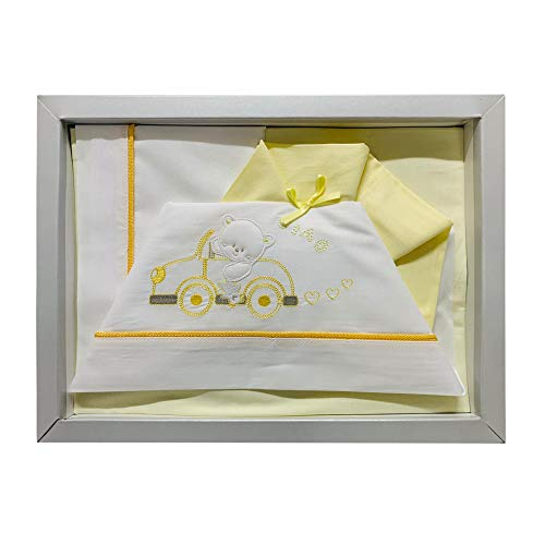 Nada Home - 2516 - Lot de 3 couffins assortis en coton pour bébé Culla-Carrozina jaune