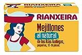 RIANXEIRA Mejillones al Natural. Mejillones de las Rías Gallegas preparados en agua y sal. D.O.P. Mejillón de Galicia.