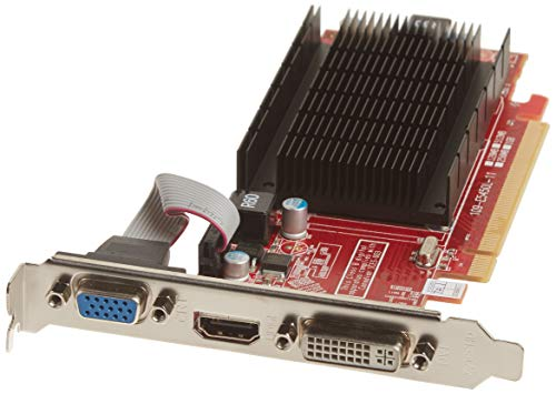 VisionTek Radeon 5450 - Tarjeta gráfica (1 GB, DDR3, DVI-I, HDMI, VGA), Color Rojo y Blanco