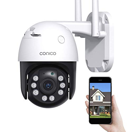 Security Camera Outdoor, Conico 1080P Wifi IP CCTV Camera for Home Security...
