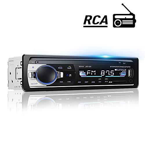 HALUM Autoradio Bluetooth, 4×60W Manos Libres Radio Estéreo de Coche, Reproductor MP3 autoradio 1 din FM, Llamadas Manos Libres, Función de Radio y de Archivo