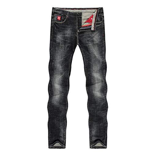 Jeans Vaqueros Pantalon Jeans para Hombre Slim Straight Elastic Casual Fashion Bolsillos Streetwear Hombres Pantalones De Mezclilla Jeans-Picutre_Color_32