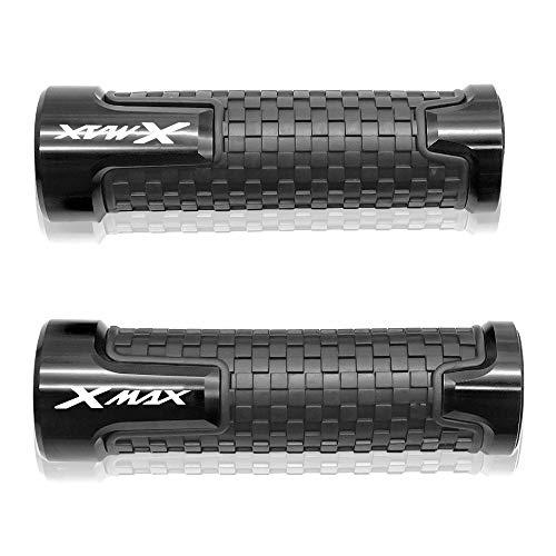 22mm 7/8'' Manopole manubrio Per Yamaha X MAX X-MAX Xmax 125 250 300 400 Nero