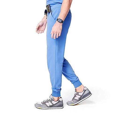 FIGS Tansen Jogger Style Scrub Pants for Men - Ceil Blue, Tall XS (Apparel)