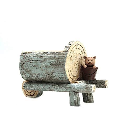 Home Décor Vase Pastoral Creative Imitation Wood Grain Cute Animal Flower Pot, Succulent Plant Flower Pot, Personalized Desktop Flower Appliance Home Office Desk Decoration Floral Vase ( Color : B )