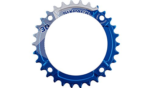 SixPack Racing Plateau K-Ring Narrow-Wide 12V (104 BCD) Dentures: 36 - Couleur: Bleu VTT Mixte Adulte