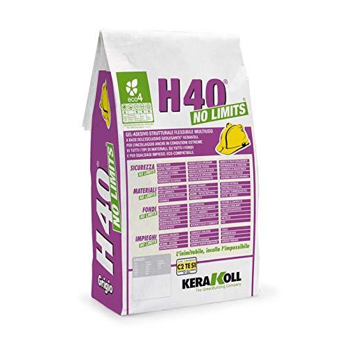 Pegamento universal H40 No Limits en bolsa de 5 kg para suelo y revestimiento blanco