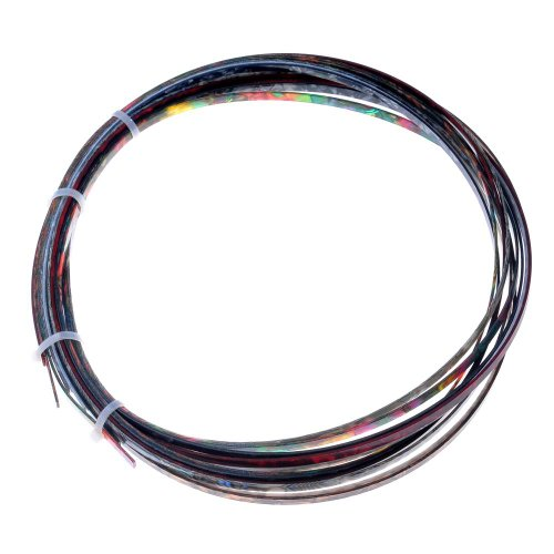 Kmise A1740 1 Piece 5' Abalone Pearl Colorful Celluloid 6mm Width Binding for Acoustic/Classic Guitar