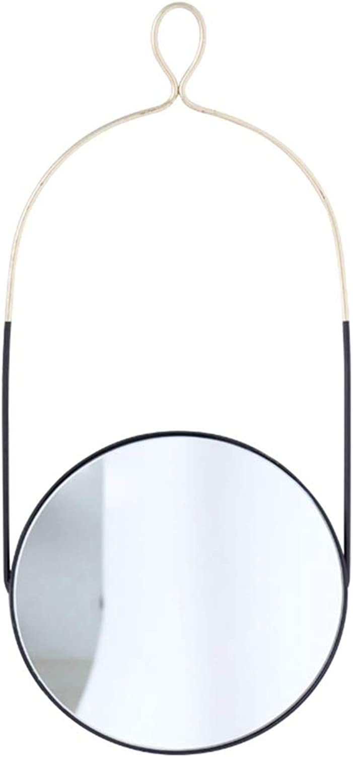 Wall Mirror Large Frame Round Nordic Minimalist Glass Hanging in Living Room Bedroom Hall, Hallway Kitchen