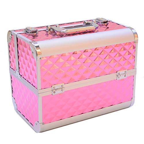 Maleta Profissional para Maquiagem (Pink)