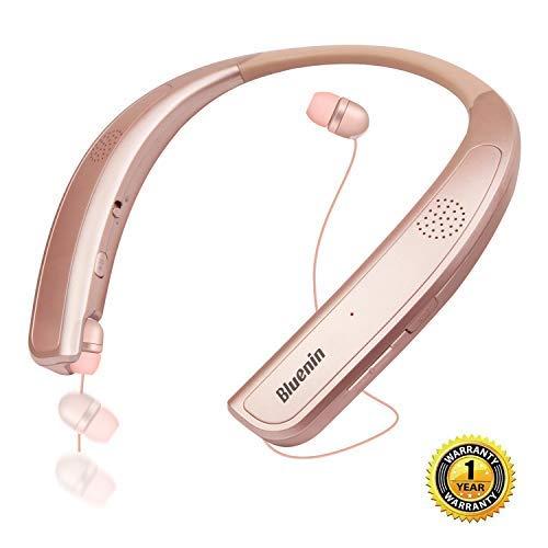 Bluetooth Headphones Sweatproof Retractable Microphone