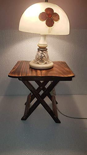 Indian Karigars Wooden Foldable Side Table