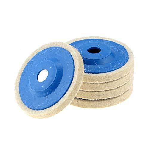 ZLININ 1 unid 4 pulgadas 100mm lana pulido rueda pulido almohadillas ángulo amoladora rueda fieltro disco para metal mármol vidrio cerámica