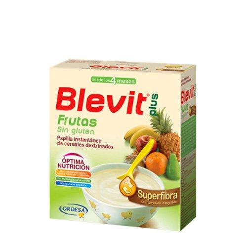 Blevit Plus Superfibra Frutas, 1 unidad 600 gr. Cereales para bebé. A...