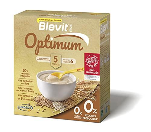 Blevit Plus Optimum 5 Cereales - Papilla de Cereales para Bebé con 50% de Cereales Integrales - Únicas Papillas para Bebé Sin Dextrinar - Desde los 6 meses - 400g