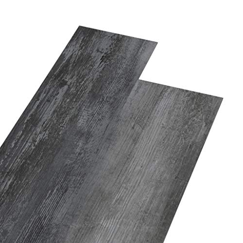 vidaXL PVC Laminat Dielen 5,02m² 2mm Selbstklebend Vinylboden Vinyl Boden Planken Bodenbelag Fußboden Designboden Dielenboden Glänzend Grau