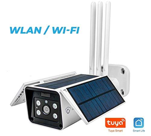 LUVISION WLAN / WiFi & Solar IP Überwachungskamera | autonome kabellose Outdoor-Kamera Solarpanel & WLAN | Full HD Nachtsicht | Gegensprechanlage | Cloud | ALEXA & Google Home kompatibel