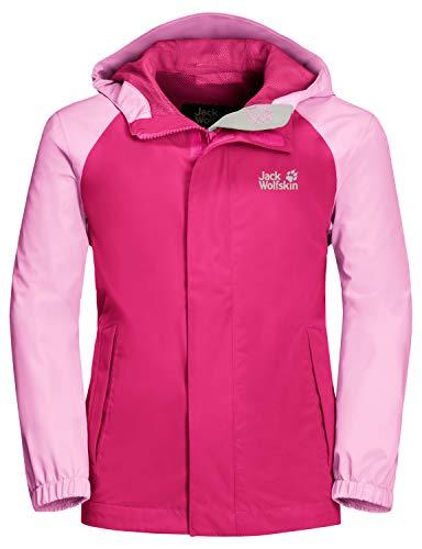 Jack Wolfskin Kinder Tucan Jacket Kids Atmungsaktive Regenjacke, pink peony, 164 (XL)