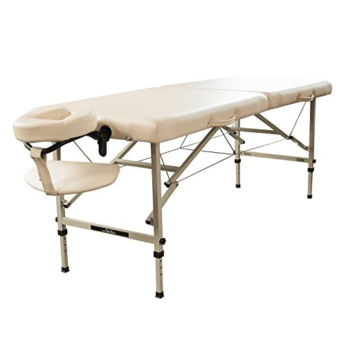 Mobile Massageliege Clap Tzu TRAVELER SET, 184x70 cm, crema