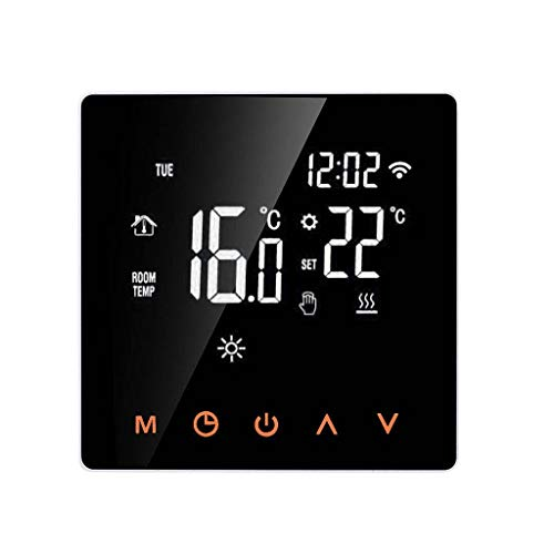 TIREOW 230V Wasserdicht WiFi APP Intelligenter Thermostat Temperaturregler Elektrischer Thermostat Programmierbare Fußbodenheizung Raumthermostat Mit LCD Touchscreen Für Hause Büro (B)