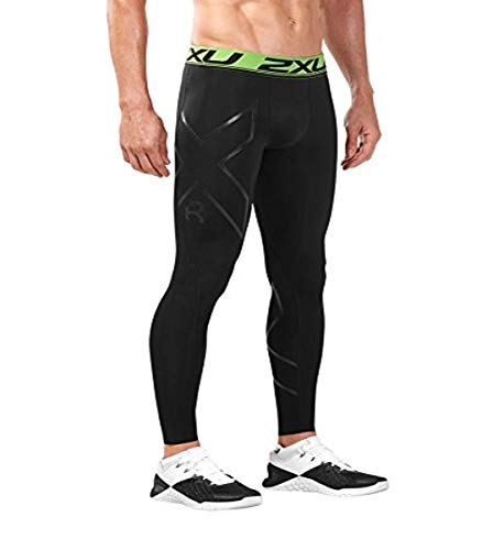 2XU Men's Refresh Recovery Compression Tights (Black/Nero, Extra Small)
