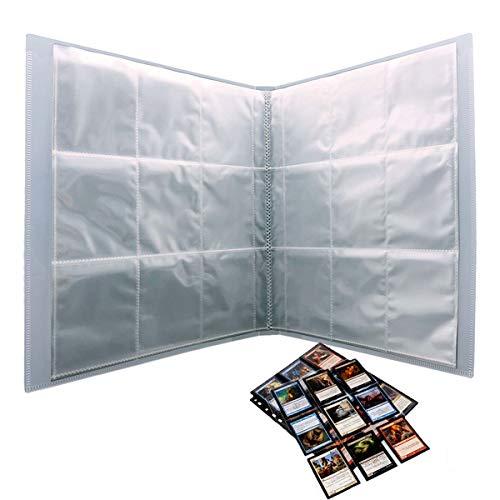 270 Bolsillos Trading Card Sleeves Collectors Albumes,Trading Cards Album,Bolsillos de Cartas Almacenamiento, Colección paginas del Album,Album de Fotos Transparente Scrapbook