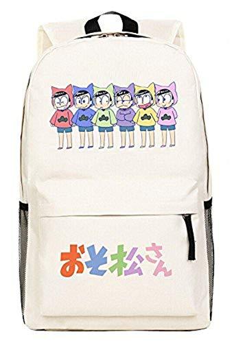 siawasey Osomatsu-san Anime Cosplay Tagesrucksack Rucksack Schultertasche Schultasche beige Osomatsu-san5