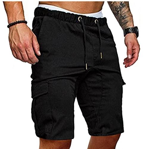 EElabper Casual Semplice Stile Militare Estate Uomini Cotton Shorts Cargo Bermuda Uomo di Lavoro Pocket Lace Up Shorts