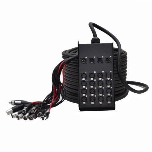 Seismic Audio SACB-16x4x100 16-Channel XLR Low Profile Circuit Board Snake Cable, 100-Feet
