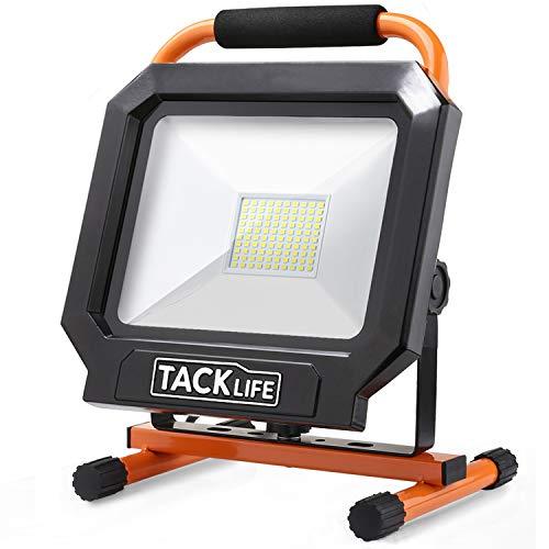 Tacklife 5000LM 50W LED Work Light [100LED,400W Equivalent], IP65 Waterproof Flood Light, Adjustable...