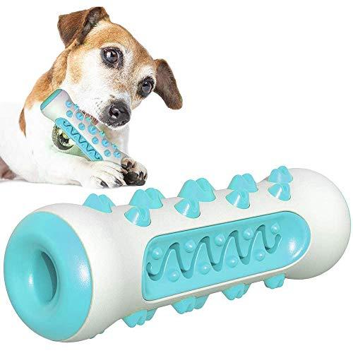 Hundezahnbürste Haustier Kauspielzeug Zahnreinigungsset Doppelte Reinigungsmittel für Große Oder Kleine Hunde (Blau)