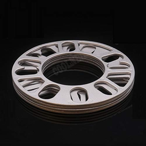 NLLeZ 1pc 3mm de Aluminio de aleación de aleación de aleación de aleación de la Placa de Las cuñas para el hub de Las Ruedas de 4 Orificios 4x98 4x100 4x108 4x114 accesseles de Coche