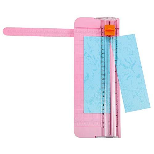 MFS Cortadores de recortes de papel de scrapbooking portátiles,Mini cortador de papel pequeño, Mini cuchillo de corte con cortador de papel pequeño y deslizante, trabajo hecho a mano Regla de osado)