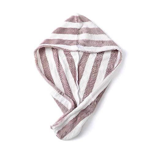 XINDUO Bonnet en Velours Corail,Serviette de séchage des Cheveux avec Bouton, Serviette en Microfibre, Chapeau de Cheveux secs,
