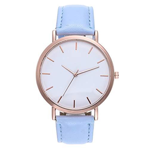 Dorical Armbanduhr für Damen, Mode Quarz Glas Kunstleder Uhren Hoch Qualität Elegant Uhr Armbanduhr für Frauen, Damenarmband, Freizeituhr, Modischuhr, Günstiguhr Leicht zu Verwenden(G)