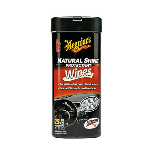 Meguiar's G4100 Natural Shine Protectant Wipe (25 wipes)