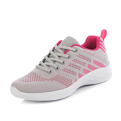 Hombre Mujer Zapatillas Running Trail Fitness Zapatos Deporte para Correr Sneakers Ligero Transpirable