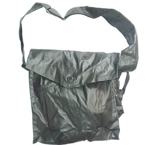 A. Blöchel Neuwertige ABC-Schutzmaskentasche der NVA Waserdichte Gummitasche Oliv Tasche für Gasmaskentasche