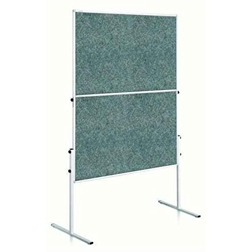 Legamaster Moderationswand ECONOMY klappbar 120x150 cm grau Filz