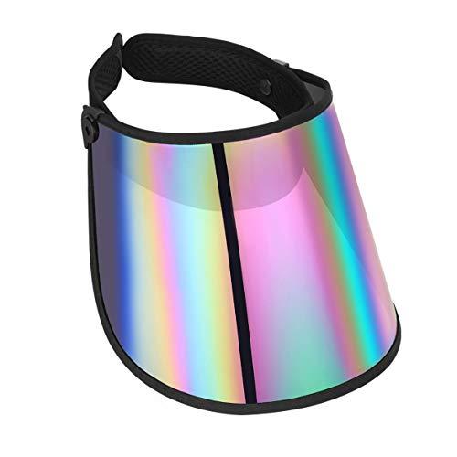 LIOOBO Sonnenkappe Sonnenblende Hut UV-Schutz Hut Stirnband Solar Gesichtsschutz Hut zum Wandern Golf Tennis im Freien