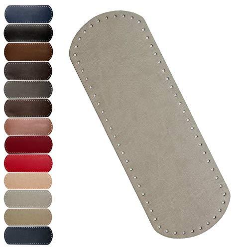 maDDma 1 Taschenboden Kunstleder zur Taschenherstellung Boden Tasche Farb-/Größenwahl, Farbe:hellgrau, Größe:12x36cm