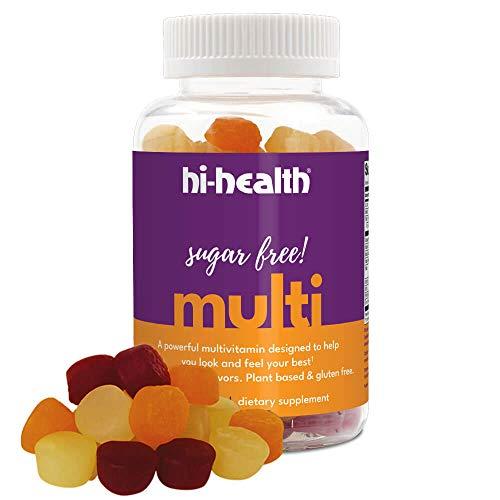 Hi-Health Sugar Free Gummy Multivitamin, Ketogenic Vitamin, Vitamin C, Vitamin D, Plant Based, Gluten-Free, Natural Delicious Fruit Flavors (100 Gummies)