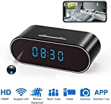 Hidden Spy Camera Clock Wireless WiFi Hidden Cameras HD 1080P Nanny Cam
