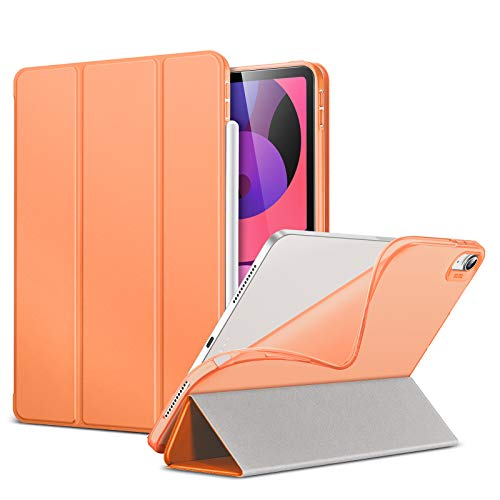 ESR Slim Smart Case for iPad Air 4 2020 10.9 Inch [Auto Sleep/Wake Cover] [Viewing/Typing Stand Modes] [Flexible TPU Back] Rebound Series - Papaya